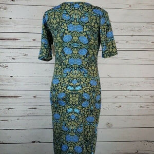 LuLaRoe Dresses - LuLaRoe Julia Blue Rose Dress Size Small NWT